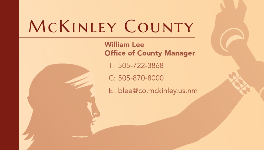 McKinley County Business Card Mockup