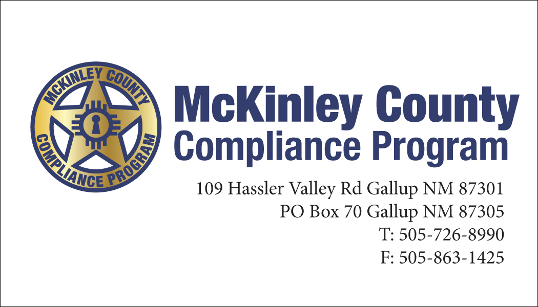 McKinley County Compliance Business Card
