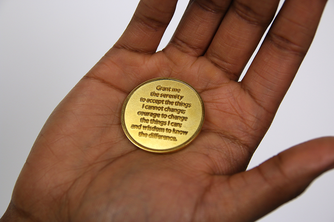 Sobriety Coin- back