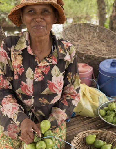 Roadside Fruit and Frog Seller